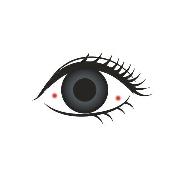 目 の 周り 赤い 斑点